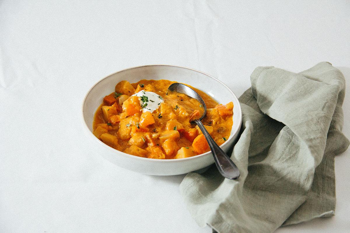 Kürbis-Kartoffel-Gulasch