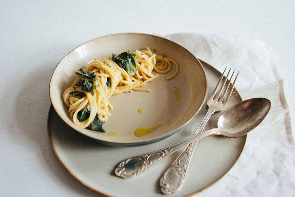 Cremige Mangold-Pasta