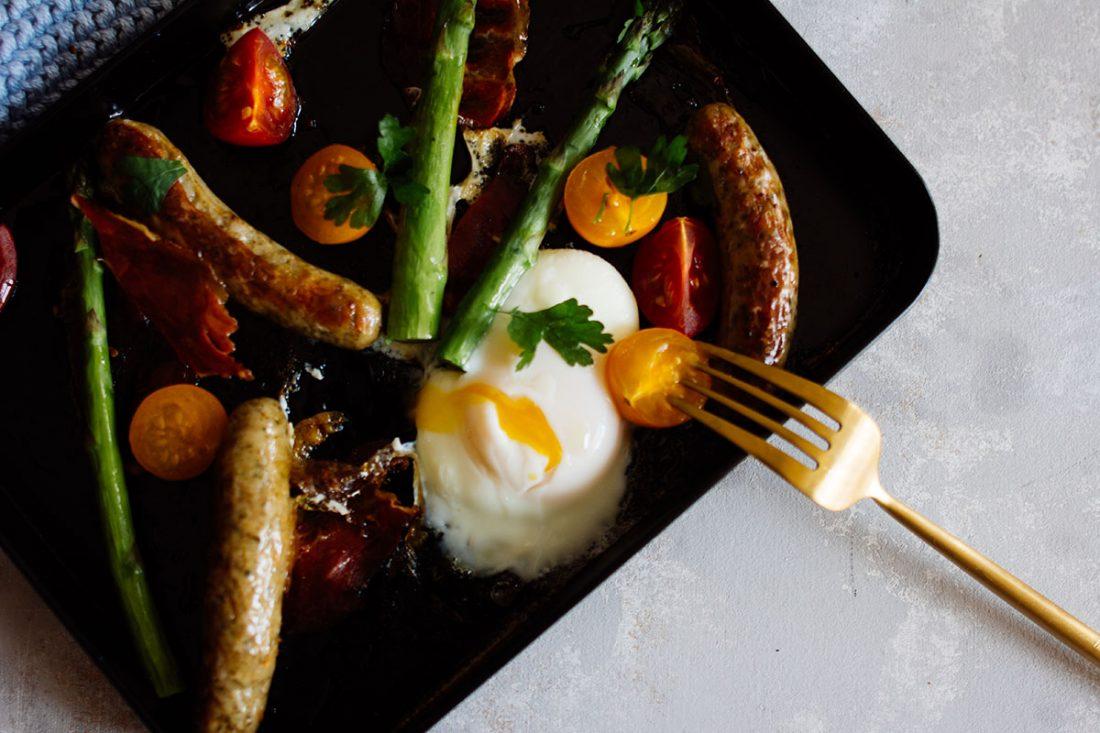 Frühstück vom Blech